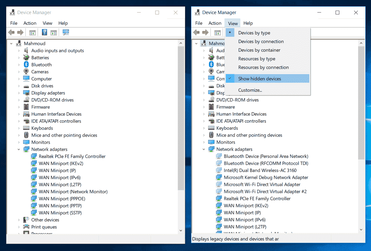 Windows 10 WiFi Setting and Driver disappear automatically