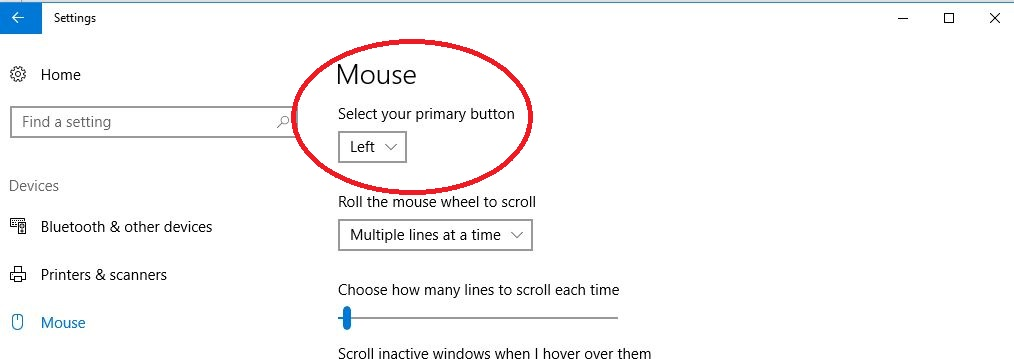 Mouse buttons keep reverting to right handed operation in Windows 10 4119a59c-654f-4ba1-b129-c6232c0cc138?upload=true.jpg
