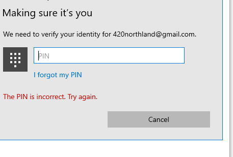 Change pin will not work. and i cant access microsoft help without a PIN. 417c8b17-32b5-4b97-a175-2ca8235fff28?upload=true.png