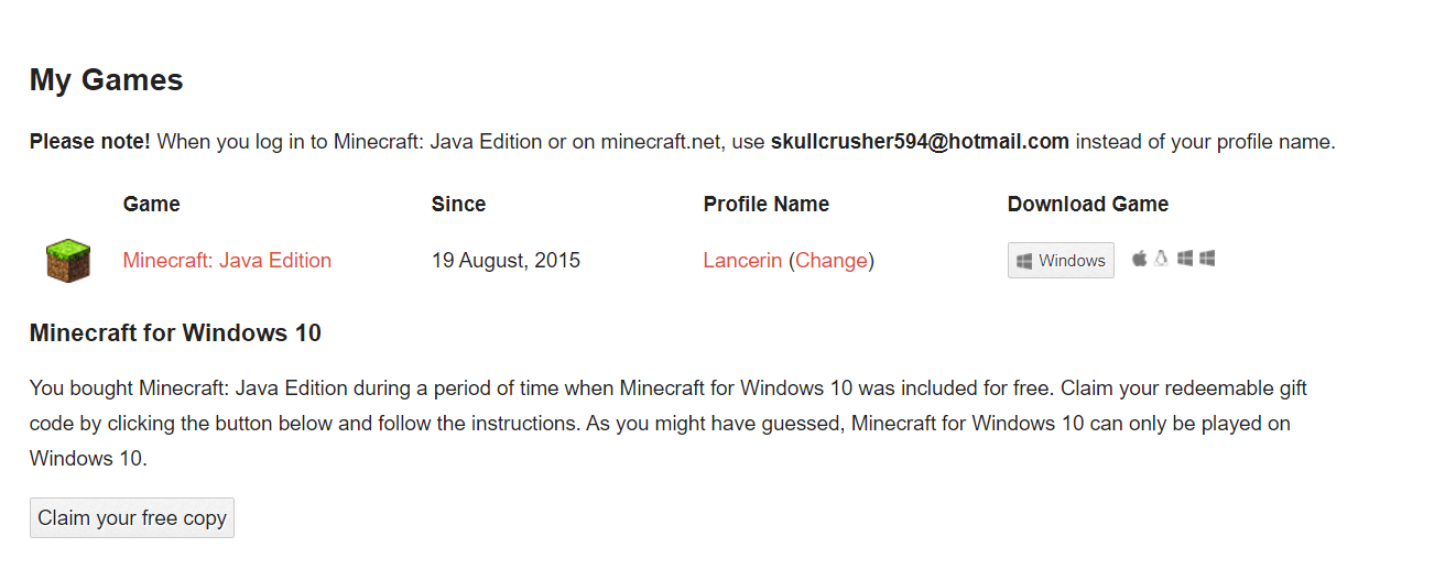Minecraft For Windows 10 Gift Code Isnt Working