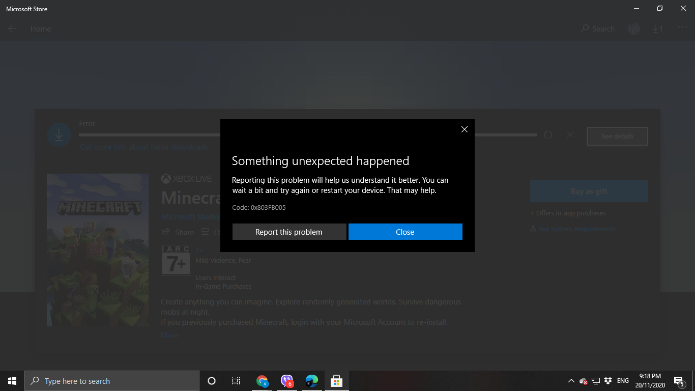 My Minecraft Windows 10 can't download due to it being blocked. 4256cda7-19e6-4832-95a2-a8cade204152?upload=true.png