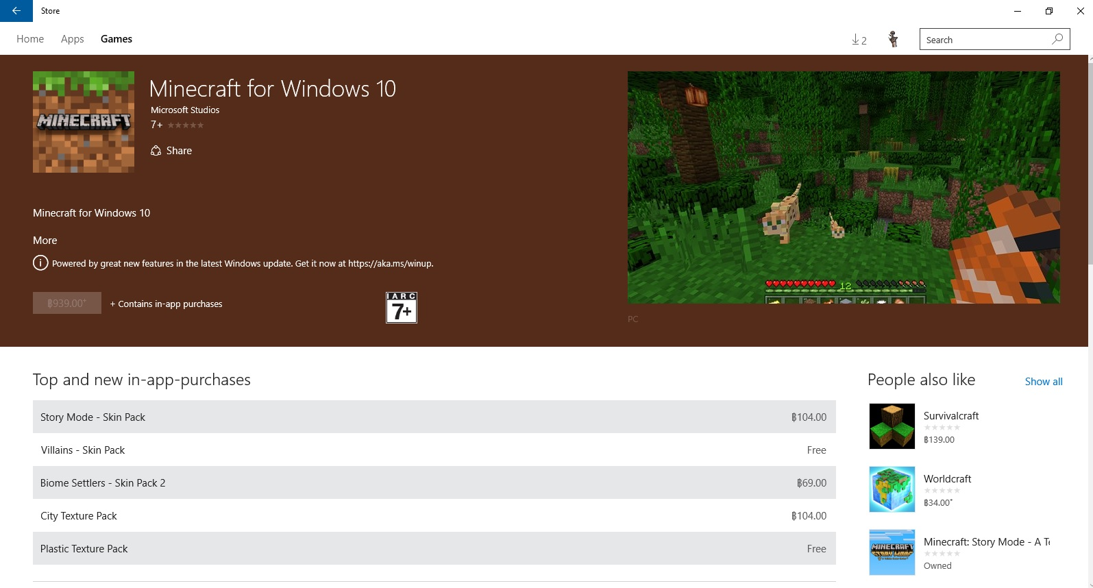 i  redeemed minecraft for window 10 but in store it not have install button 429e8ec2-953f-4018-93ea-d30a1119a814?upload=true.jpg
