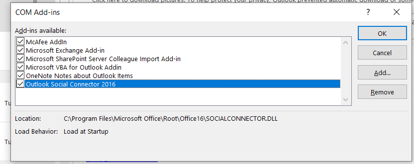 There is no Skype COM Addin for Outlook 2019 43a2dde7-9530-43bd-b83c-417bb51a6118?upload=true.png