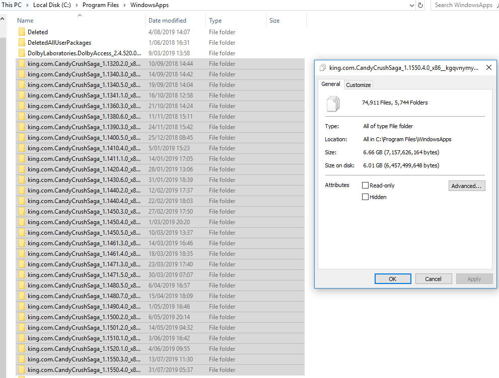 New versions of uninstalled apps are being installed in %ProgramFiles%\WindowsApps 43b3fa37-cce2-440d-bd76-b33473e3ba86?upload=true.png