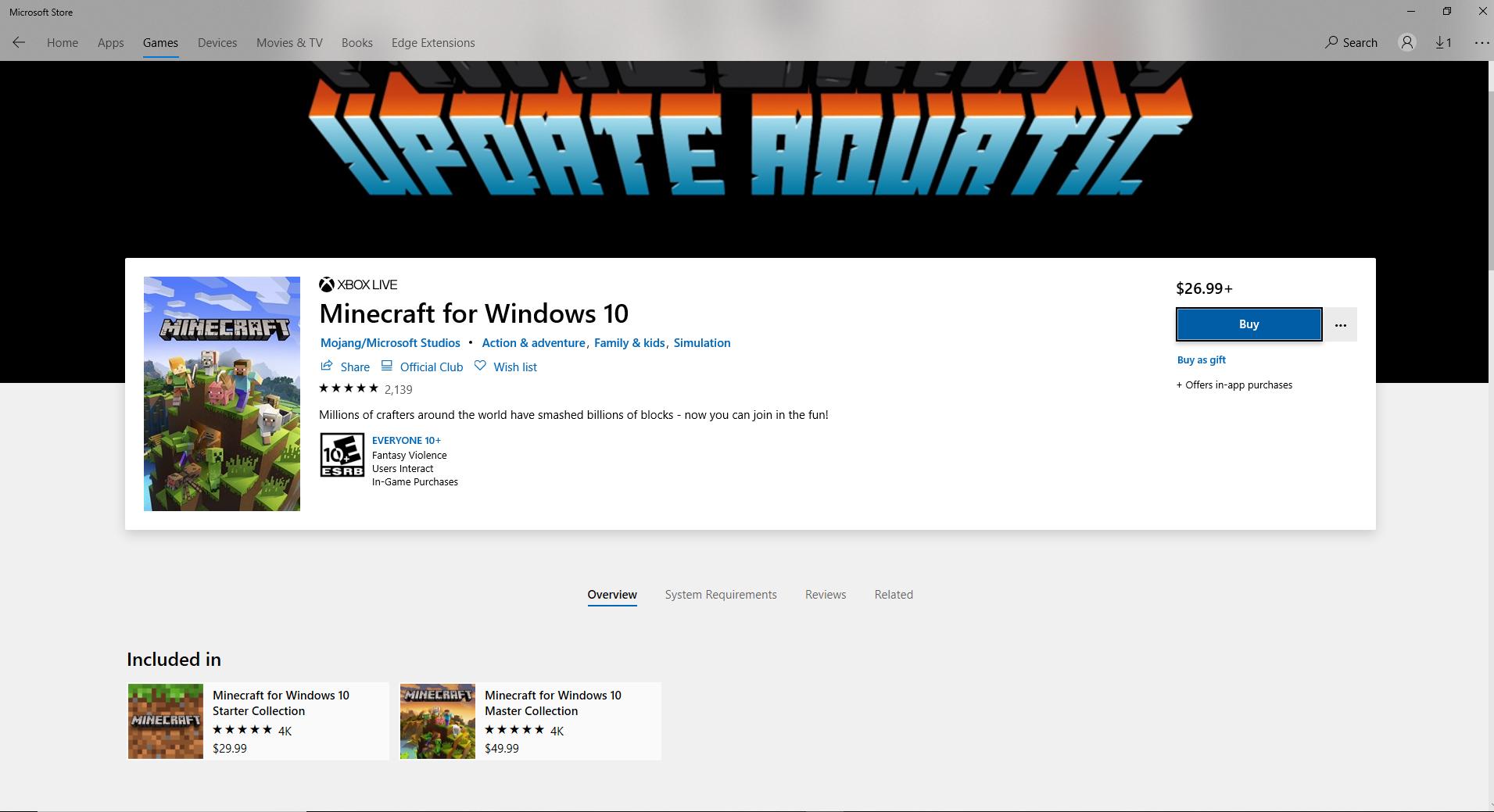 Minecraft for Windows 10 won't download 447b01e5-6249-4037-b67c-281b9b3f58d1?upload=true.jpg