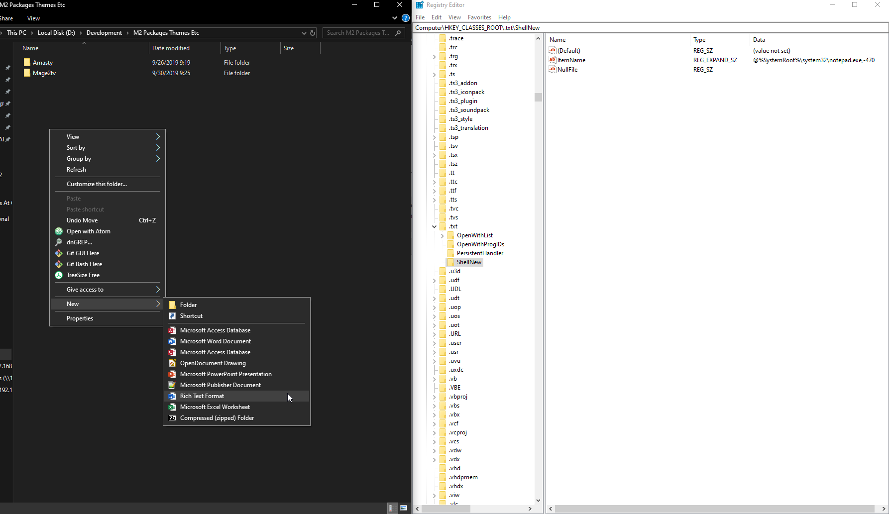 """""""Text File"""" missing from explorer right click context 46a65df7-a817-472e-8e50-3c6ab2b3d921?upload=true.png"""