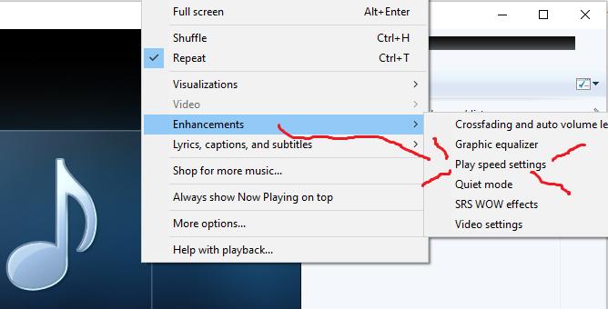 Isn't Groove playback speed adjustable??