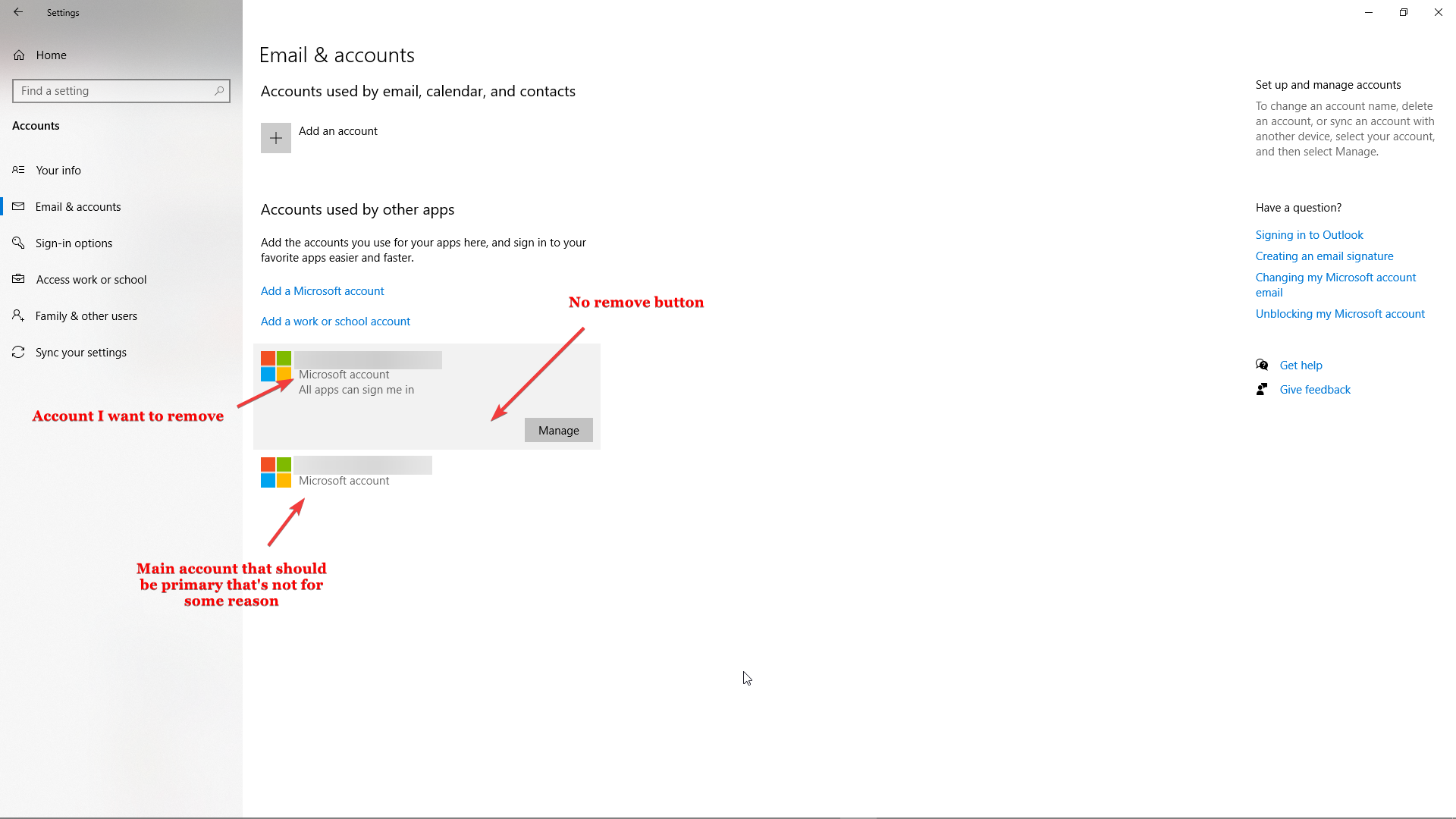 an email adress I had that doesn't exist anymore was added to my PC and now I can't remove it 479a103c-bda9-47f8-86ab-d699b484f192?upload=true.png