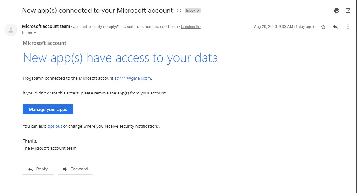 New apps connected to your Microsoft account Email - Legit ??? or not 48cac990-6fc4-45fe-a175-97971b944168?upload=true.jpg