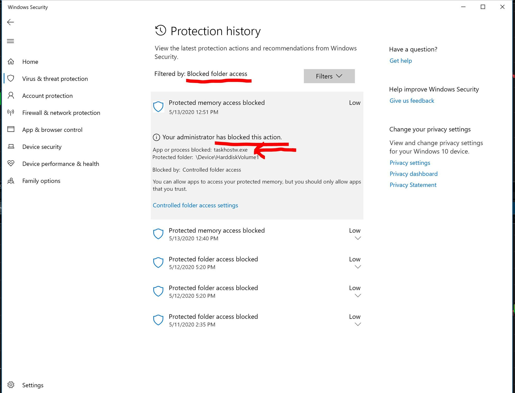 Windows Defender... HOW do you UNBLOCK an app that has been blocked by mistake. 4a86fa55-e60f-452c-894c-8120ce9f071c?upload=true.jpg