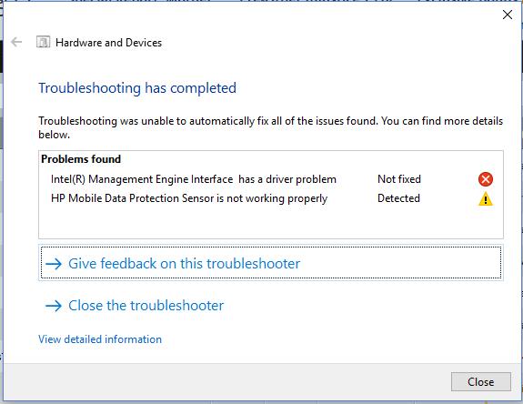Hp mobile data protection sensor driver windows 10