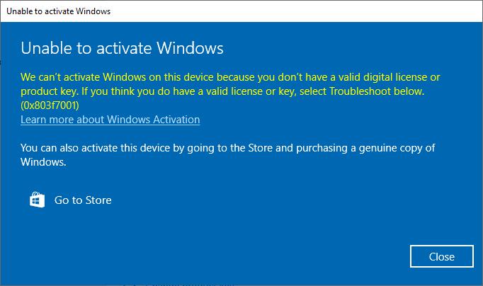 Error: 0x803F7001 when trying to activate Windows 10 Pro 4c058055-5ee4-44b3-b192-fb1e570de471?upload=true.png