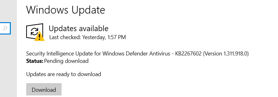 KB2267602 update for Windows defender - but this is a 3 years old update! 4cc50d5b-6b7e-41fb-bd00-b3ced221ed43?upload=true.png