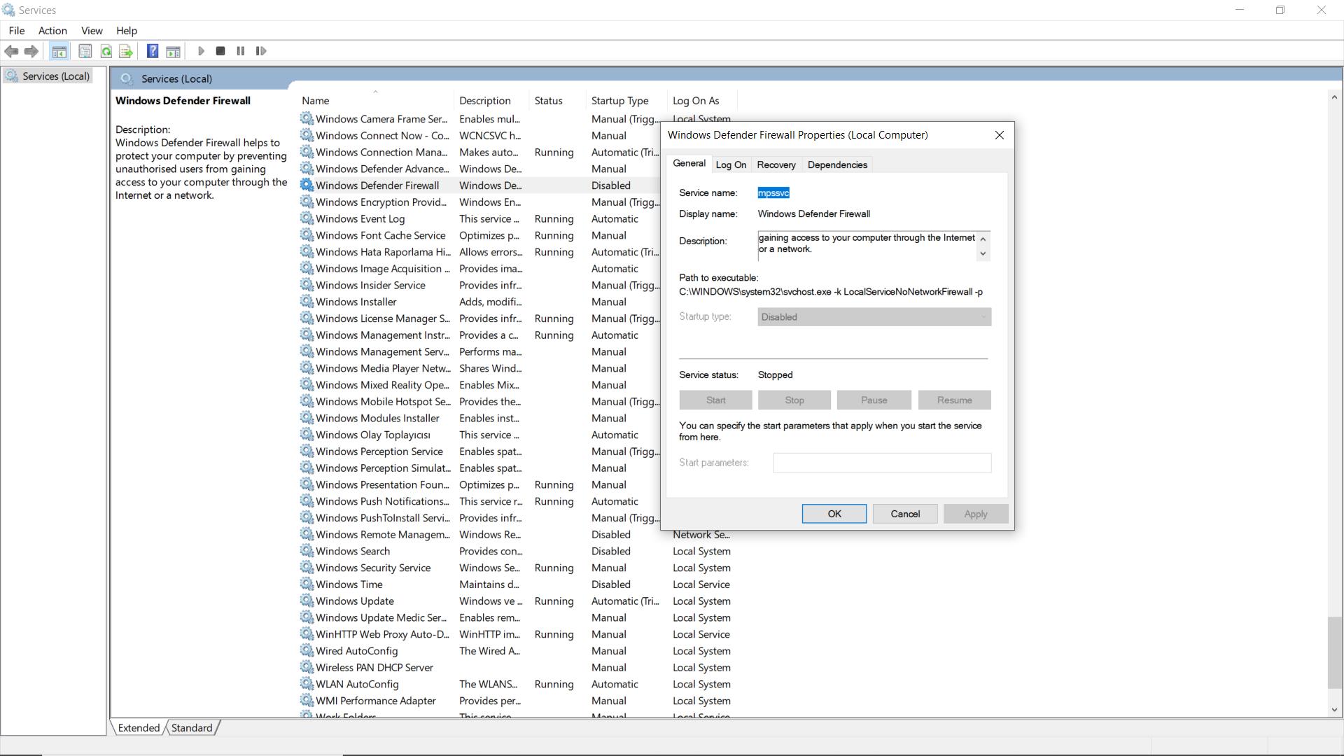 I can't change Windows Defender Firewall settings in services 4cfed1ec-c8e8-4c5b-941d-27b8115c101d?upload=true.png
