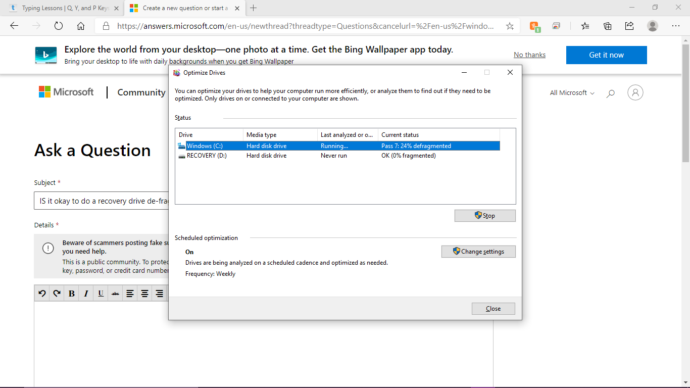 IS it okay to do a recovery drive de-frag. process? 4f3cf7de-d923-4860-b150-7db7ae3ee053?upload=true.png