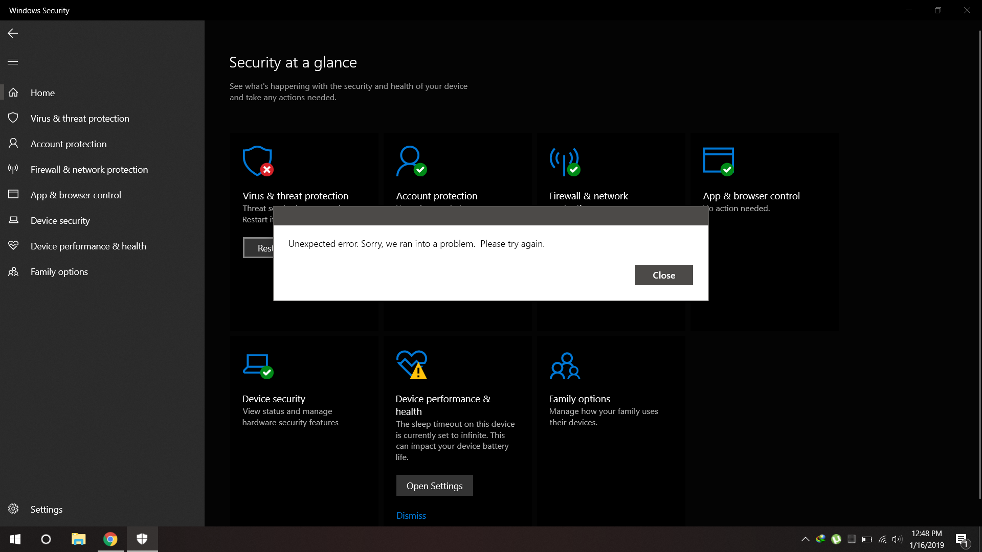 Windows Defender - Virus and Threat Protection - Threat service has stopped 4fffc8ce-2a2d-4355-935d-b173d5412077?upload=true.png