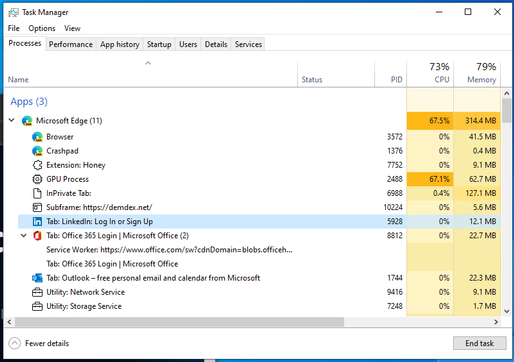 Windows 11's Task Manager now displays the site name, icon, tab title for Microsoft Edge... 515x362?v=v2.png