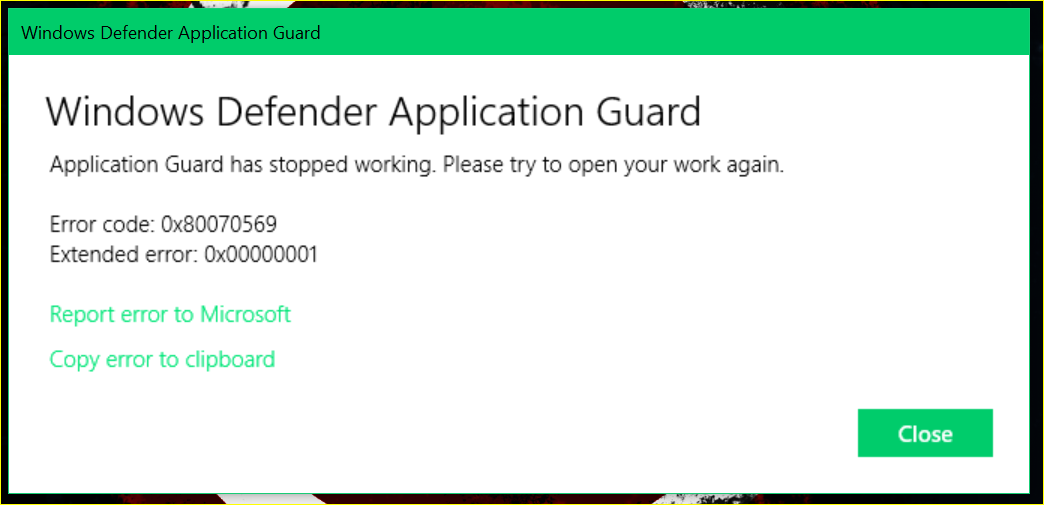 Windows Defender Error Code 0x80070002