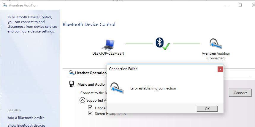 Bluetooth Devices issue on Windows 10