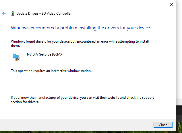 Nvidia driver failed to be installed 590cbc50-f0f9-4577-a452-ed4e38237fa4?upload=true.png