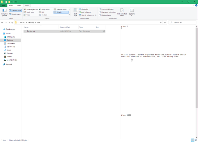 Since when can you middle-click the preview pane in file explorer? Scrolling there in any... 59j8iemb9rj71.png