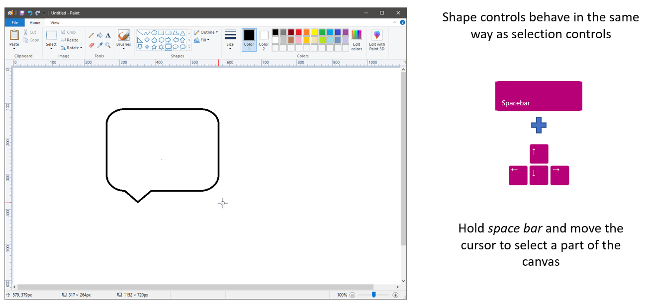 New Microsoft Paint Accessibility Features in Windows 10 version 1903 5_ShapeControls.png