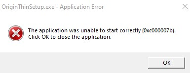 I am getting error on installing application 0xc00007b. 5be5a17a-535e-4660-9f10-7a30437d872e?upload=true.jpg