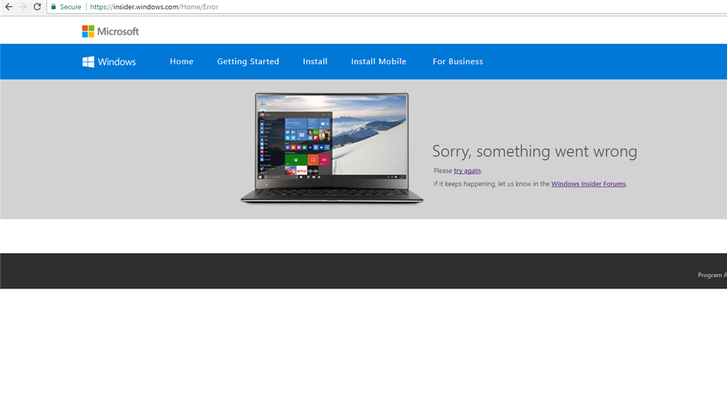 """When i try to join the windows insider program it gives the error """"we can't talk to the... 5c5a2782-6be9-4323-a998-9639b525fb91.png"""