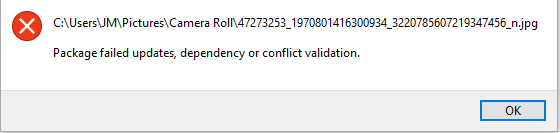 Package Failed updates, dependency or conflict validations 5da7e460-c03b-46ee-bb0b-e95488617fb8?upload=true.png