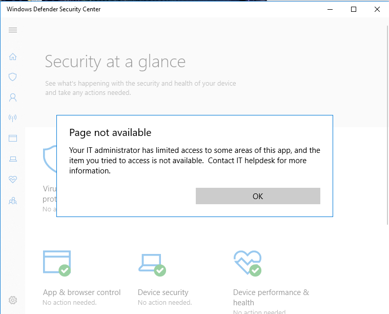 Windows Defender blocking access to apps, not abiding to Admin Privileges, disabling... 5dfa2f1e-fc25-447e-a05a-f82f0d97dfcd?upload=true.png