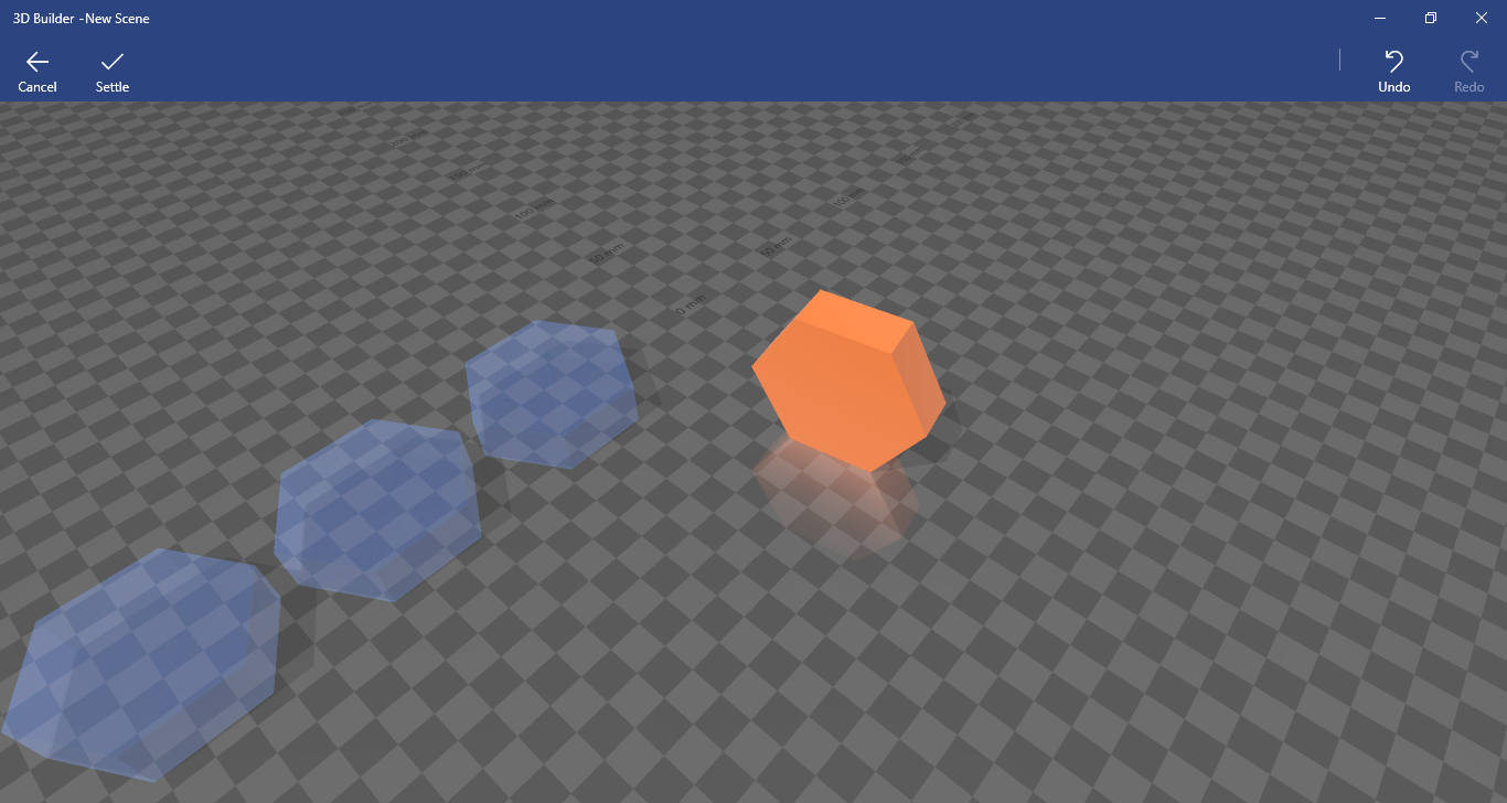 Settle option in 3D Builder app 5fba4d7c-c85b-4ebe-b474-f5ad5c169241?upload=true.png