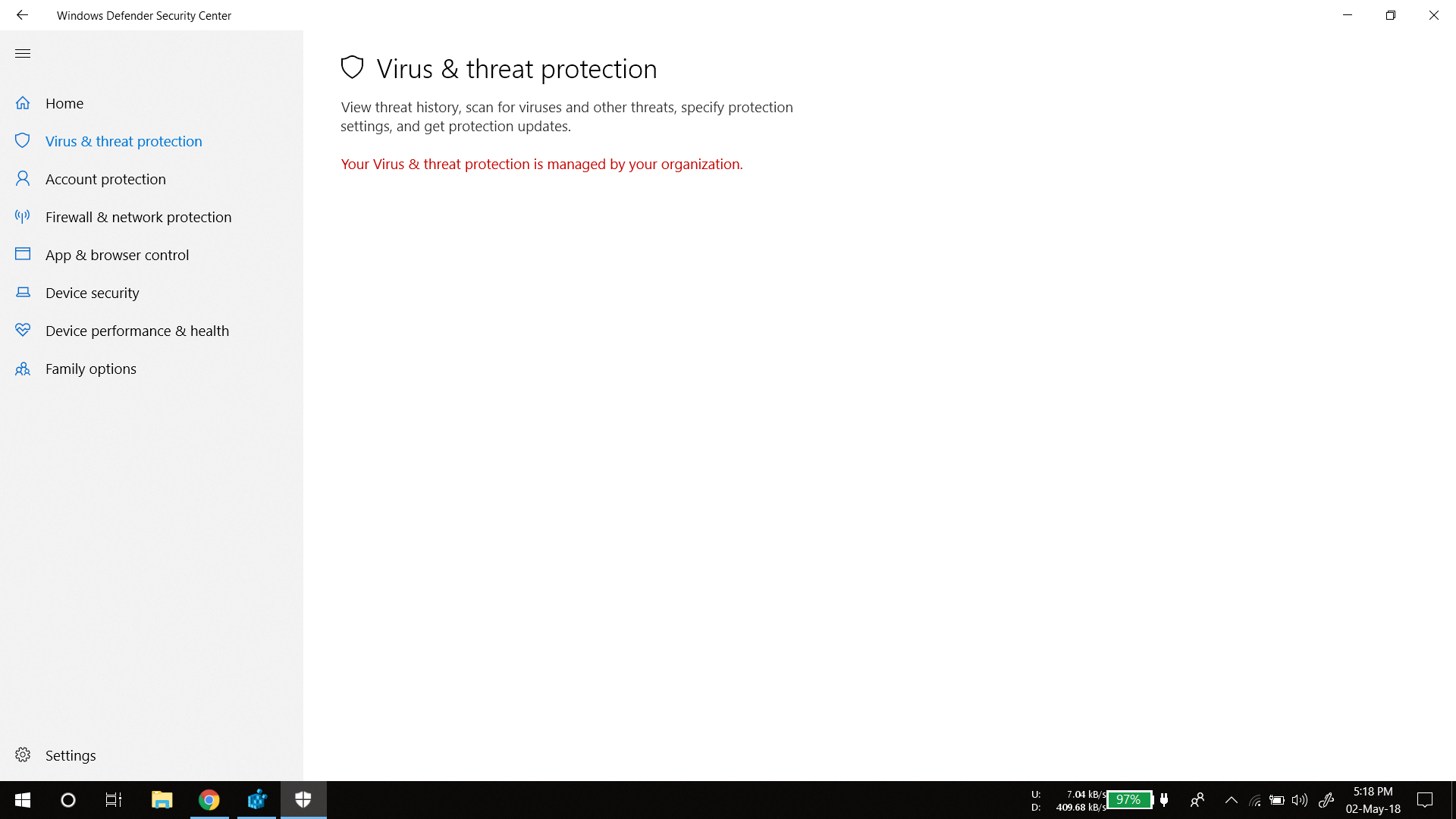 windows defender`s virus & threat proctection is managed by my organization 6408d6ee-1c20-4c97-bf4e-3622cf2cee50?upload=true.png