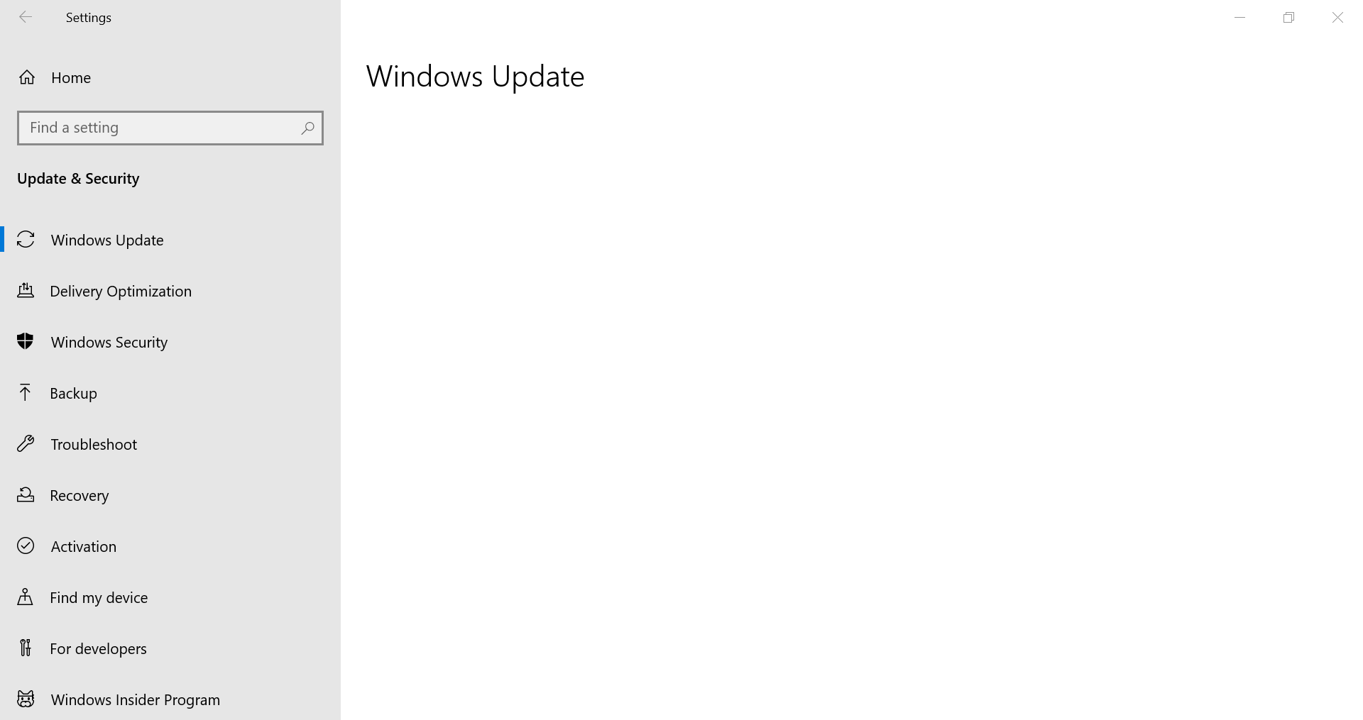 my windows update is not showin anything and stuck forever, pls help !! 66b60e05-9f54-4112-8e24-b4269ee72f20?upload=true.png