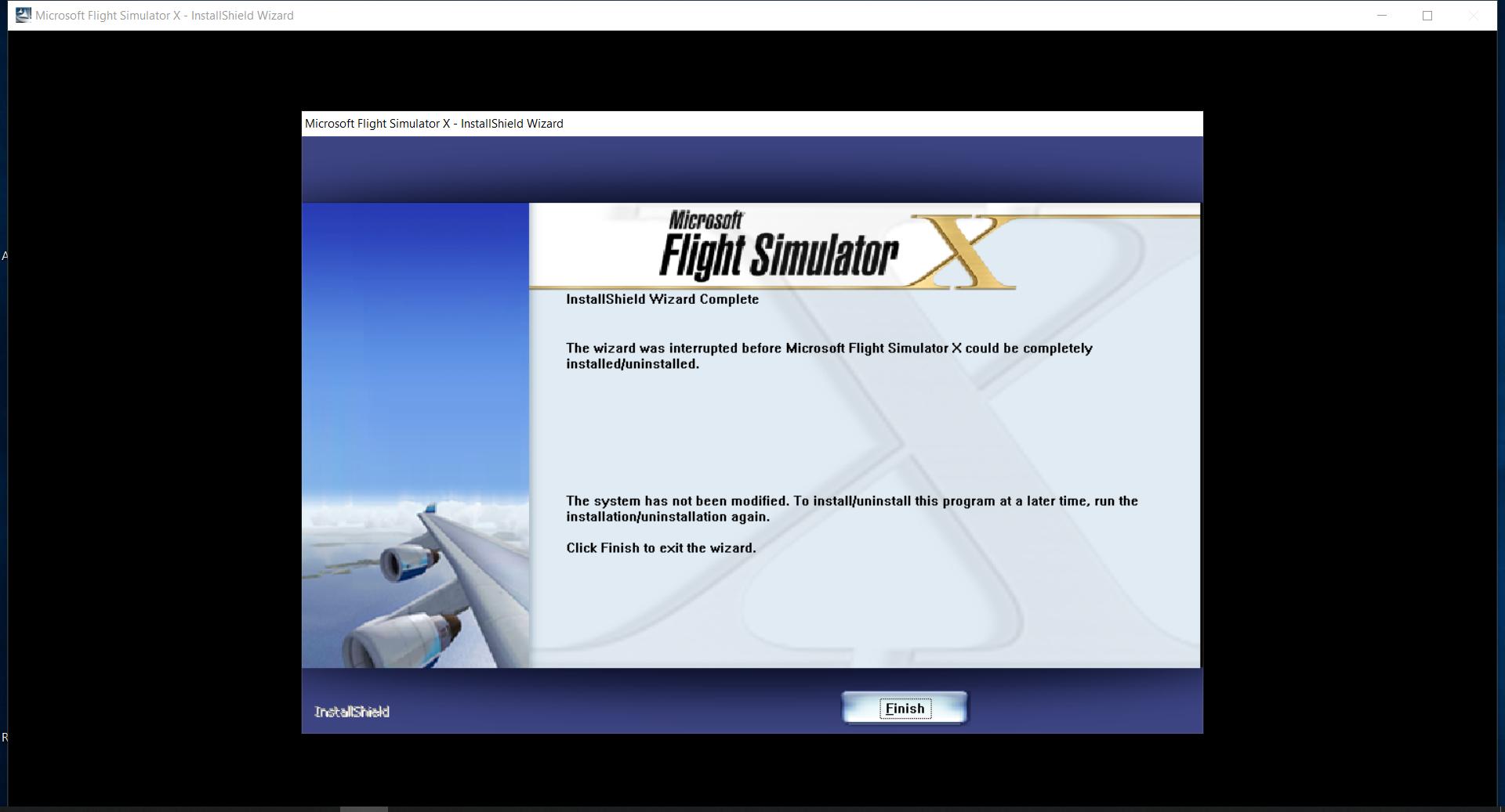 Issue When Installing Flight Simulator X