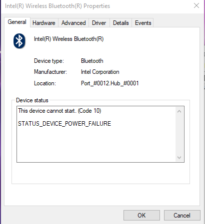 Yet another BTTray Error device cannot start code 10 - Intel Wireless Bluetooth adapter... 68a0724c-1a5b-4ba7-9652-da9d8485e763.png