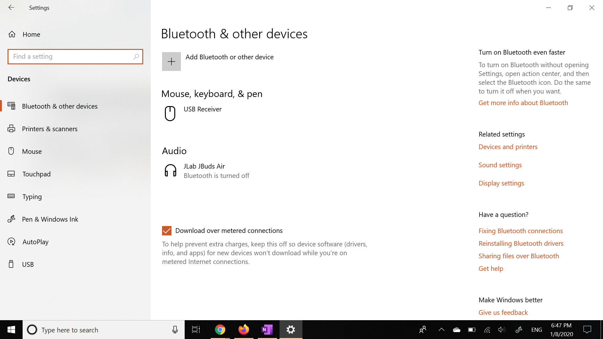 Bluetooth keeps disappearing and reappearing on windows 10 69a68ca1-e93e-4b63-a523-cf5c1b7530e5?upload=true.png