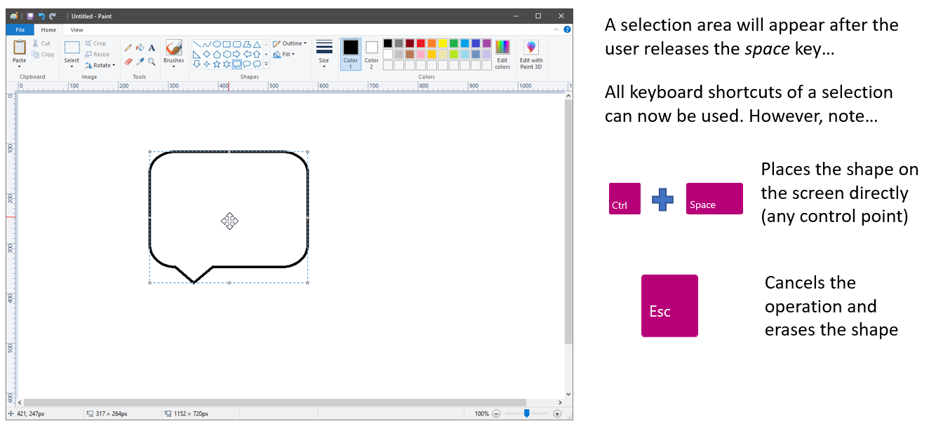 New Microsoft Paint Accessibility Features in Windows 10 version 1903 6_ShapeControls.png