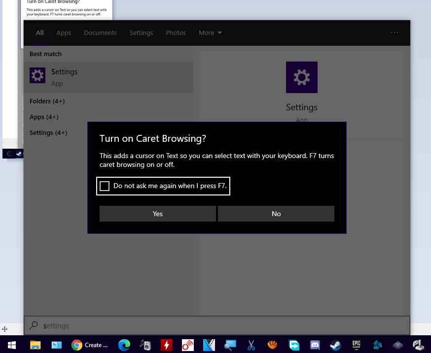 Caret Browsing popup on EVERY Windows 10 UI when F7 is pressed 6ab16246-d47e-4848-8307-795e4f1b3a36?upload=true.png