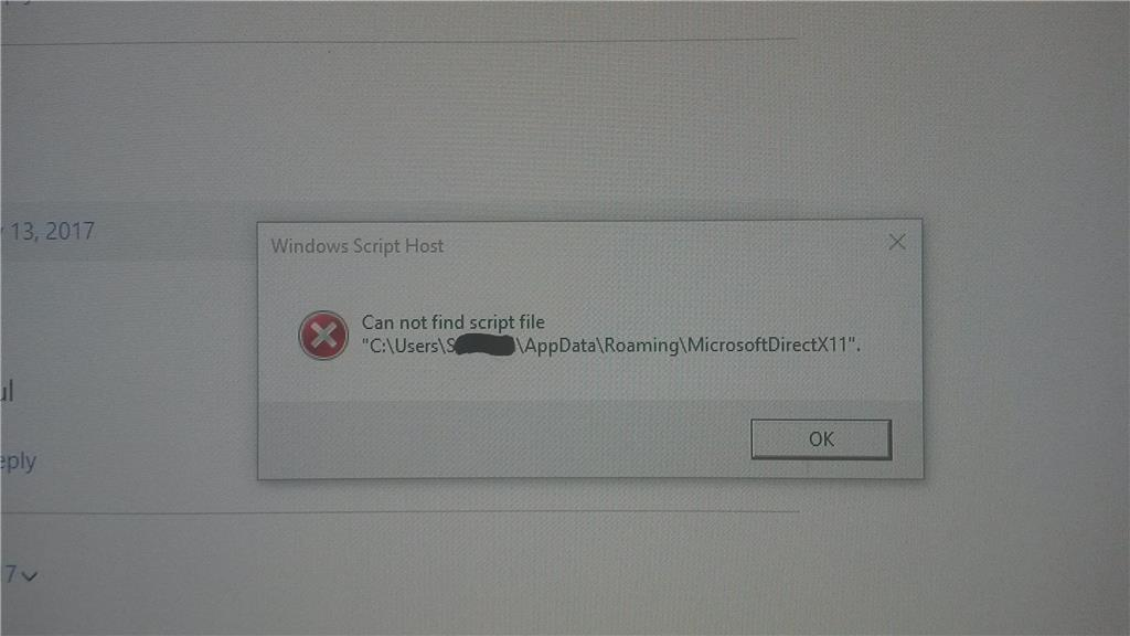Cannot find script file'. 'C:\Users\SM\AppData\Roaming\MicrosoftDirectX11 6b0c01c8-be86-4828-9249-aefecd5adea5?upload=true.png