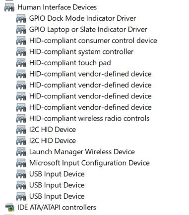 HID-Touchscreen and Hardware and Devices troubleshooter missing