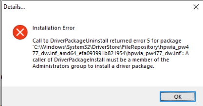Printer installation fails, error 5 6c5e2b56-e162-4619-8d11-f9af555a5f78?upload=true.png