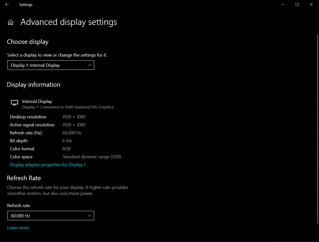 AMD as display and not GTX 1650. 6d601f60-16b0-4246-b01d-ab82fba068b6?upload=true.png