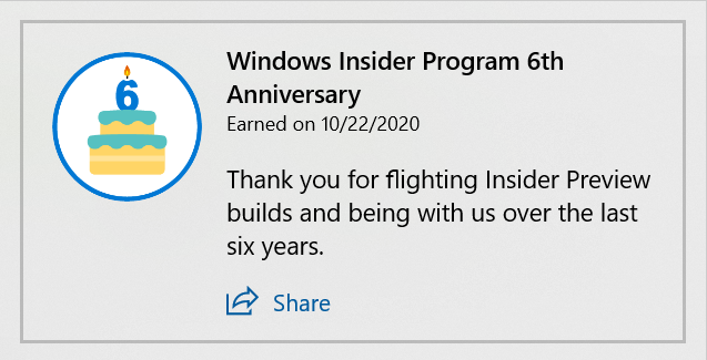 Windows 10 Insider Preview Dev Build 20246.1 (fe_release) - Oct. 29 6th-anniversary-badge.png
