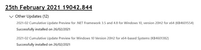 Strange problems with the Cumulative Update Previews installed 25th February 2021 70ba2589-7e5a-49bd-8ca6-14e04d1f7265?upload=true.png