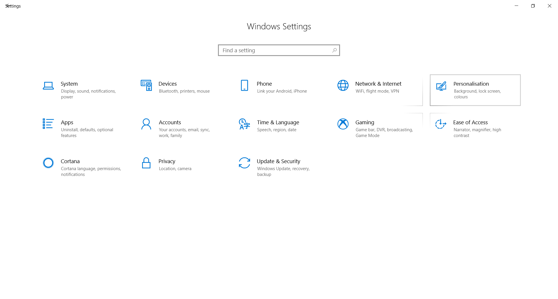 Windows 10 Desktop personalisation not opening 719fb4d6-91ae-4acc-afc0-f216f43b5588?upload=true.png