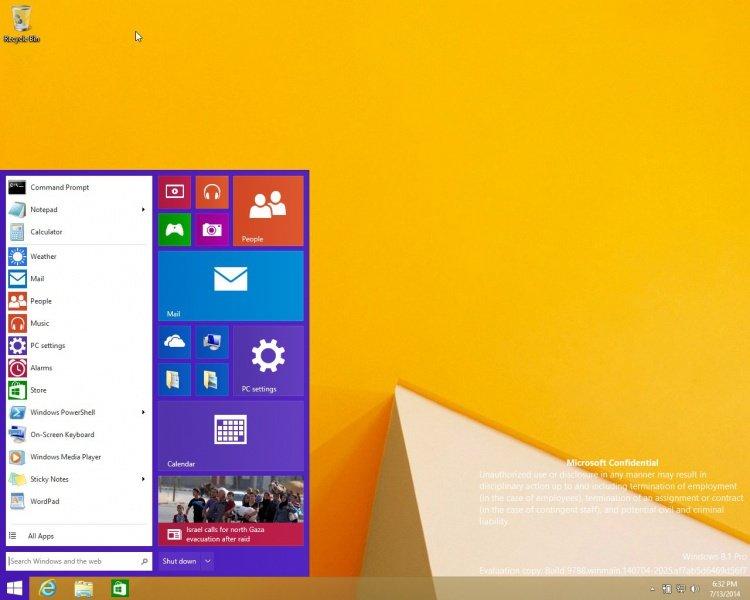 Leaked 'Windows 9' screenshots offer a closer look at the new start menu. 750px-Windows-10-Start-Menu-Screenshot-Leaked-450558-2.jpg