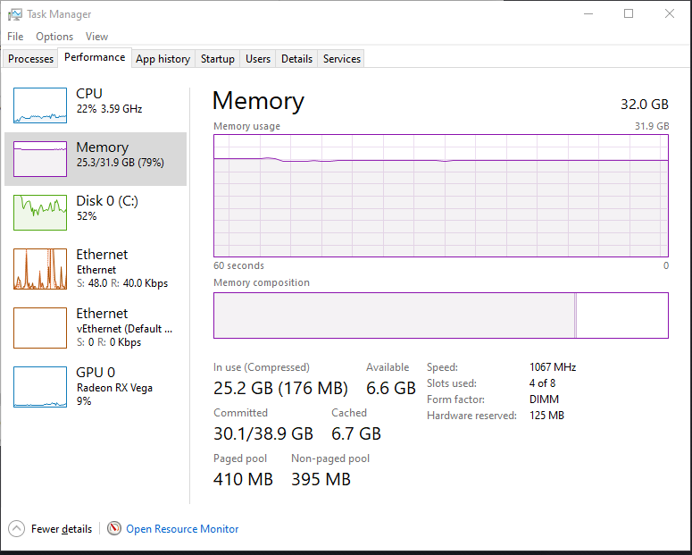 Task manager shows using 80%+ memory only displaying me using less than 1 gb 75576cf2-f5cb-4b76-86e7-5634060d8618?upload=true.png