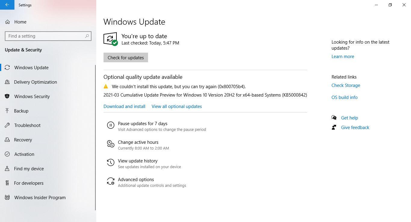 Windows Update: 2021-03 Cumulative Update Preview for Windows 10 Version 20H2 for x64-based... 75f9af96-7492-4b71-881b-c3fd8a2409e6?upload=true.jpg