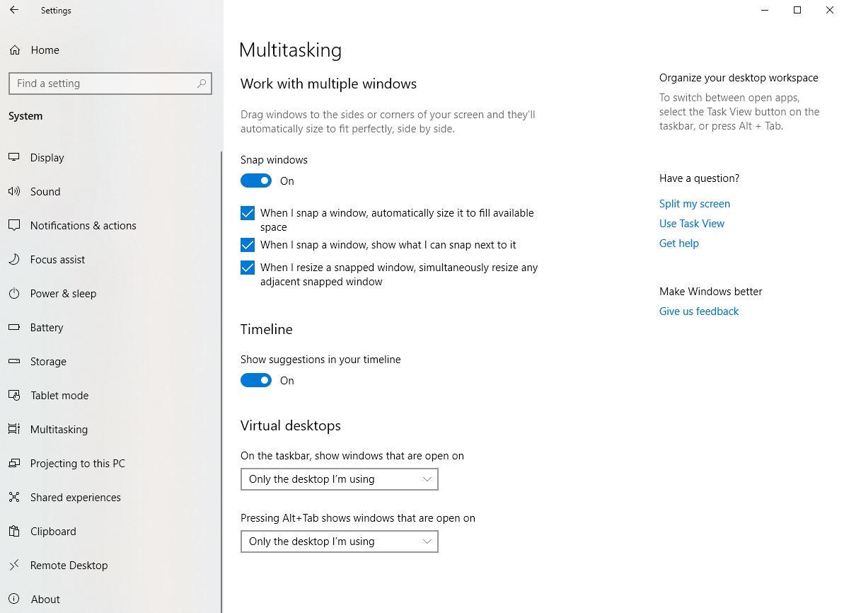 Windows 10 multitasking/snap assist no longer working after May 2019 update 7b70f632-97ff-4dfa-95fd-fcef4c6275e1?upload=true.jpg