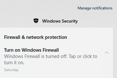 Turned off firewall, now how do I turn off the notification telling me to turn it back on. 7f870fba-8261-4782-9137-00861352b8c5?upload=true.png